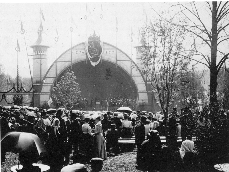 Out door stage in 1899 songfestivals